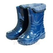 Сапоги пвх детские утепленные синий д14-ку код товара: 00041566 фото