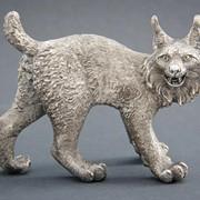 Рысь, анималистическая скульптура фото