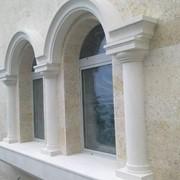Отделка фасадов натуральным камнем фото
