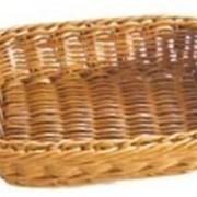 Хлебница плетен.ротанг.коричн.прямоуг.18*12,5*5см LQ-NEW фото