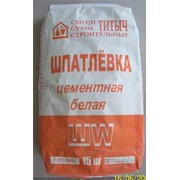 Шпатлевка цементная белая ШW фото