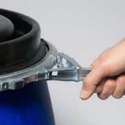 Новая Бочка пластиковая 230л. Open-Top синяя  фото
