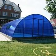Поликарбонат сотовый 4,6,8,10 мм. Синий. Доставка. фото
