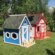 Детские деревянные игровые домики фото