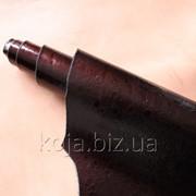 Натуральная кожа для кожгалантереи коричневого цвета с вишневым отливом арт. СК 2073 фото