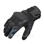 RUSH Перчатки SHORTY кожа, цвет Черный фото