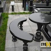 Гранитные столы и лавочки фото
