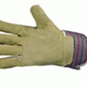 Перчатки тканевые со спилковыми накладками утепленнные фото