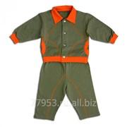Костюм ясельный, куртка и брюки 3684-ф футер, размер 52-92 фото
