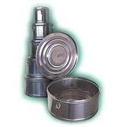 Коробка стерилизационная круглая с фильтром КСКФ-18 (Объем 18 дм3, Диаметр 390мм) фото