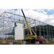 Монтаж быстровозводимых производственных торговых зданий фото