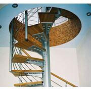Монтаж интерьерных чердачных лестниц фото