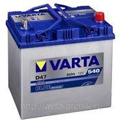 Аккумулятор Varta 60 Ah asia обратная фото