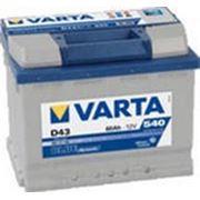 Аккумуляторная батарея D43 Varta blue dynamic 60. Индекс производителя 560 127 054. фото