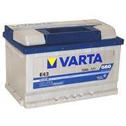 Аккумуляторная батарея E43 Varta blue dynamic 72(низкий). Индекс производителя 572 409 068. фото
