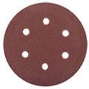 Круг шлифовальный Зубр Мастер универсальный, из абразивной бумаги на велкро основе, 6 отверстий, Р180, 5шт Код: 35566-150-180 фото