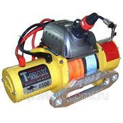 Лебедка автомобильная электрическая T-MAX PEW-6500 Performance с синтетическим тросом фото