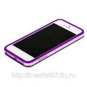 Бампер GRIFFIN для iPhone 5 фиолетовый с прозрачной полосой фото