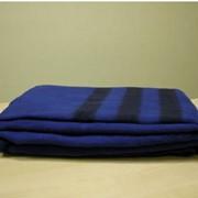 Одеяло армейское, синее, 140х205, полушерстяное