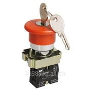Кнопка LAY5-BS142 «Грибок» с ключом красный d22мм 230В 1р IEK фото