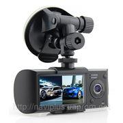 Видеорегистратор Car DVR R300 с двумя камерами, с модулем GPS и G-сенсором удара фото