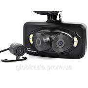 Автомобильный видеорегистратор 3 камеры - 260 градусов передний угол обзора, 130 градусов задний угол обзора. фото