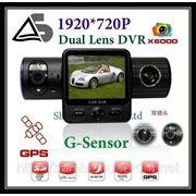 Автомобильные Видеорегистраторы X6000 c GPS модулем