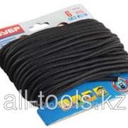Шнур Зубр полиамидный, без сердечника, черный, d 4, 20м Код:50321-04-020 фото
