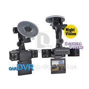 Видеорегистратор автомобильный - DVR HD-300 с двумя камерами + ИК ночное видение +2.0 экран фото