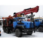 Новый лесовозный автопоезд Урал с гидроманипулятором ЛВ-185-14 2012 г.в. + прцеп-роспуск