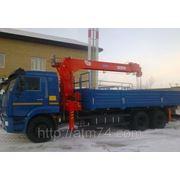 Бортовой Камаз 65117-62 с КМУ Kanglim KS-2056