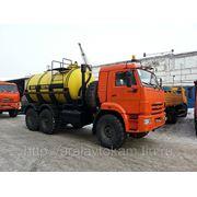 Автоцистерна емкостью 10 куб.м. для перевозки кислоты (кислотовоз) на шасси КАМАЗ-43118 (6х6) фото