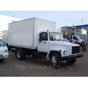 ГАЗ 3309 с промтоварным фургоном фото