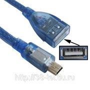 OTG кабель-переходник Mini USB (5-pin) в USB 2.0 (AM) фото