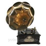"""Музыкальный центр-ретро """"Граммофон"""": винил, AM/FM, CD, MP3, USB, SD 39*45*85см 98813 фото"""