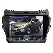 """Автомагнитола DVD с сенсорным экраном 8"""" для Hyundai iX45/Santa Fe фото"""