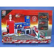 """Игровой набор """"Парковка спецслужб - пожарная станция"""" AODALI 858804 фото"""