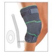 Ортопедический эластичный фиксатор ортез для поддержки колена со спиральными ребрами жесткости и силиконовым наколенники и стабилизирующими ремнями 6920 Genucare Comfort C plus фото