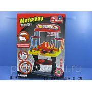 Игровой набор инструментов BOHUI Toys Play At Home 661-62 с элементами для сборки машины и верстаком фото