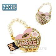 USB Flash накопитель - Бриллиантовая сумочка LOVE (32 GB) фото