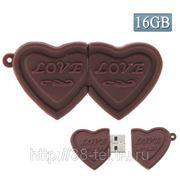 USB Flash накопитель - Двойное шоколадное сердце (16 GB) фото