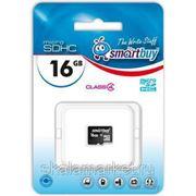 Micro SDHC карта памяти Smart Buy 16GB Сlass 4 (без адаптеров) фото