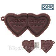 USB Flash накопитель - Двойное шоколадное сердце (8 GB) фото