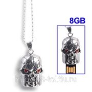 USB Flash накопитель - Серебряный череп Терминатор (8 GB) фото