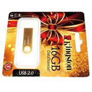 Стильный USB Flash накопитель - 16 Gb Kingston, металлический корпус, подарочная упаковка фото