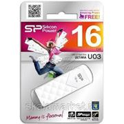 USB флэш-диск Silicon Power 16GB Ultima U03 White фото