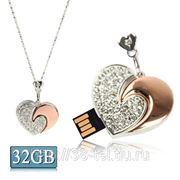 USB Flash накопитель - Бриллиантовое сердце (32 GB) фото