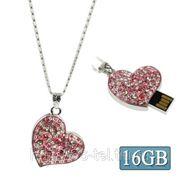 USB Flash накопитель - Розовое сердце (16 GB) фото