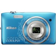 Фотоаппарат цифровой Nikon Coolpix S3500 Lineart blu фото