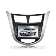 Магнитола на Hyundai Solaris фото